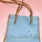 Blue Rose Man-Made Leather Bucket Syle Purse, Very Cute