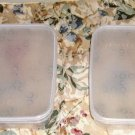 2 Clear Plastic Storage Containers, ,Grt For Lunchboxes