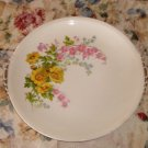 Yellow & Pink Floral Plate,Gaden City Pottery,USA,10""