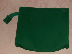 Green Vinyl Bag, Zippered,Nice Storage Bag,Sturdy