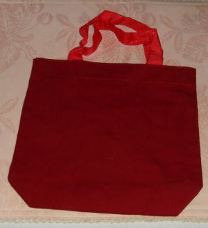 Red Fabric Bag,Grt Pencil Bag or Sm Lunch or Book Bag
