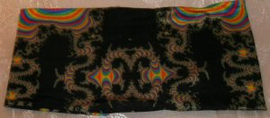 Fabric Book Cover- Stretchy Polyester-Kaleidoscope
