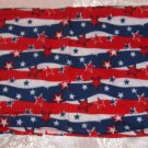 Fabric Book Cover- Stretchy Polyester-Stars & Stripes