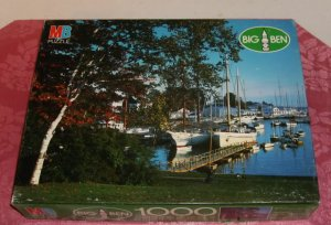 1000 Piece Fully Interlocking Puzzle, Complete, Camden,Maine, From Big Ben, Open