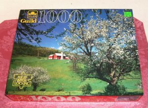 1000 Piece Fully Interlocking Puzzle, Complete,Hillside Blossoms,From Guild,New