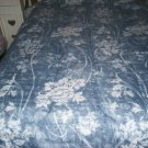Pretty Blue Floral Bed Set,Included Curtains & Ruffle