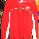 Red & White Tweety Fleece Hoodie Pullover, XL, 100% Polyester, Leave Me Alone