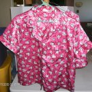 Delicate Treasures Red Hearts & Ribbons Shortie Pajamas, Polyester, Size Large