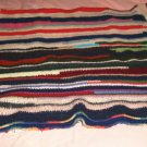 """Mulitcolored Afghan, 41"""" x 60"""", Has a Little Bit of All Colors, Very Pretty"""
