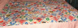 Assortment of Twin Size Sheets,Used,Fitted & Flat,Mulitcolors,Football,Camping