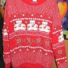 Red Roses & Bear Cute Fleece Sweatshirt For The Holiday Season,From Pinwheels