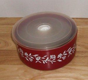 Red Floral Microwave Pans, Set of 3,Freezer Microwave,Dishwasher Safe,Vented Lid