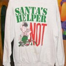 Santas Helper Not Cute Christmas Sweatshirt From Ross International, One Size