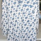 Gilligan Omalley Blue Rose Nightgown, Blue Ribbon Trim, Cotton/Polyester,Buttons