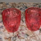 Set of 4 Plastic Glasses From Creative Ware.Barrel Shape