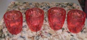 Set of 4 Plastic Glasses From Creative Ware.Barrel Shape