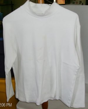 Allison Brittany Light Tan Long Sleeved Shirt, Size L, 100% Cotton,Mock Turtle