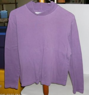 Concept Clothing Purple Mock Turtleneck, Medium, Size 10-12, 100% Cotton, Pretty