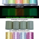 5 GLOW IN THE DARK & 4 SOLAR ACTIVE EMBROIDERY THREAD