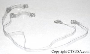 Clear Bra Strap with Clear Adjuster (1 Pair) Brand New!