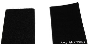 "Velcro 3"" Black Hook & Loop Fastener ( Sew-On ) New!!!"