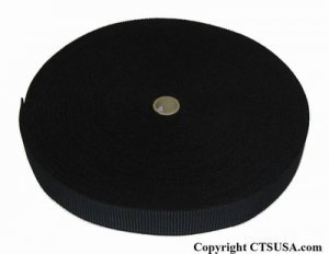 """Non-Roll Ribbed Elastic Black 1"""" Inch Width 36YDS NEW"""