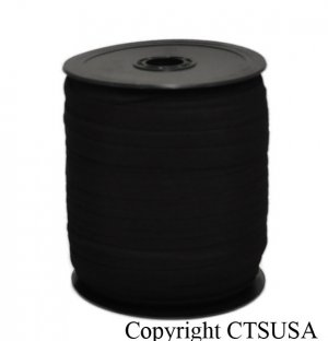"Black Knitted Elastic Roll 3/8"" Inch Width 144 YDS NEW"