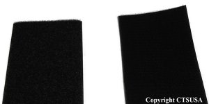 "Velcro Black Hook & Loop Fastener (3"" Wide Sew-On)"