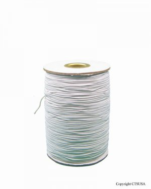 White Elastic String 288 Yards Roll Great for Crafts