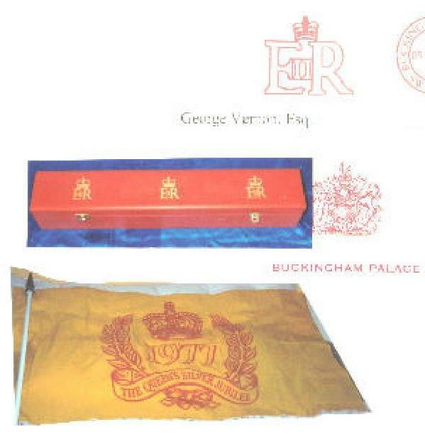 QUEEN ELIZABETH11 SIGNED JUBILEE FLAG