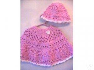 Sweet Heart Poncho & Hat Original Crochet Pattern Design