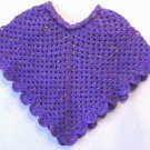 "Crochet Poncho Pattern Original Design ""Grape Wiggles"""