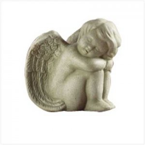 Stone Finish Sitting Angel