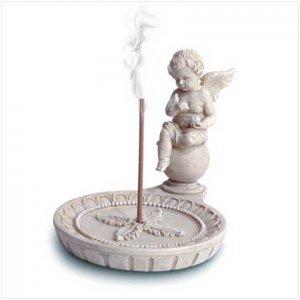 Alab Cherub Round Incense Holder