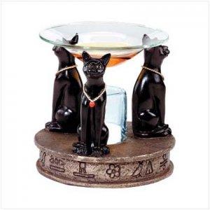 Alab. Temple Cat Oil Burner