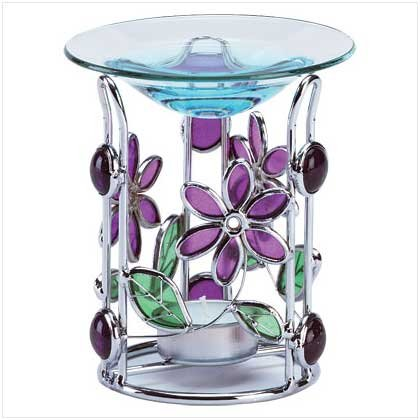 Stain glass oil warmer