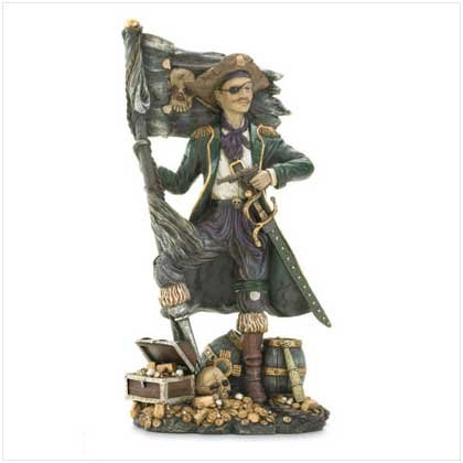 Pirate treasure chest figurine