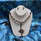 Skulls Wedding Party Halloween jewelry Gift White Necklace Earrings