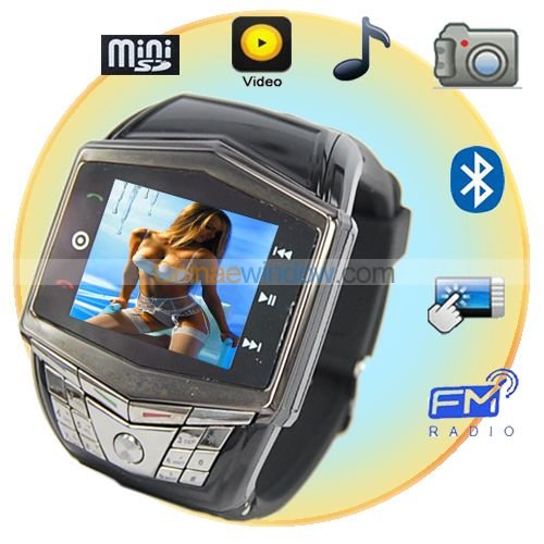 Ultra Thin 1.55 Inch Keypad Watch Cell Phone  GD910