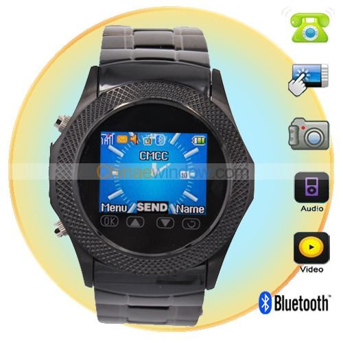 1.5 inch Steel Quad band unlocked watch cell Phone W960