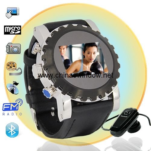 1.5 Inch Touch Screen  Leather Strap Watch Cell Phone  W958