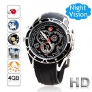 Free Shipping Steel Spy Camera Watch 1080P Voice Active 4GB (F5)