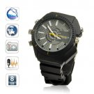8GB Black Sports 1080P infrared Waterproof watch camera dvr Night vision Motion Detection (W3000)