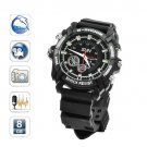 Sports 8GB 1080P Mini Hidden Camera watch dvr camera Night vision Motion Senor Detect (W1000)