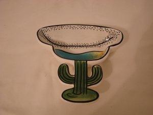 Clay Art Desert Cactus Bowl Desert Motif  (449)