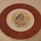 Madonna Heart Plate Harmony House by Salem 23k gold  (443)