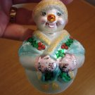 Christopher Radko Glass Jolly Wrap Junior Snowman Box