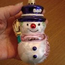 Blown Glass Xmas 2001 Snowman Ornament from Poland
