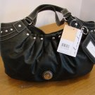 Strada Purse Black Silvertone Hardware New with Tag