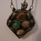 Antique Victorian Perfume Necklace Four Stones